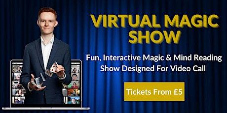Interactive, Virtual Magic & Mind Reading Show - (Sat 23rd Jan, 7pm) tickets
