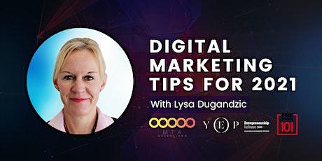 Digital Marketing Tips for 2021 tickets