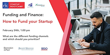 How to Fund your Startup with BDO tickets
