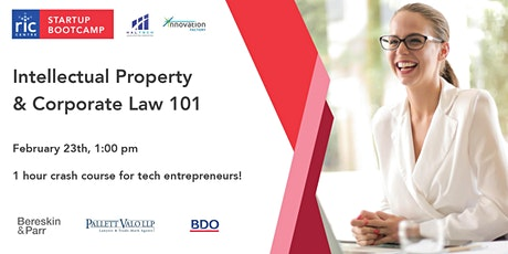 IP & Legal Startup Bootcamp tickets