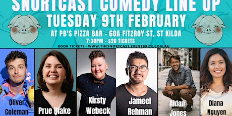 The SnortCast Comedy with PB's Bar St Kilda tickets