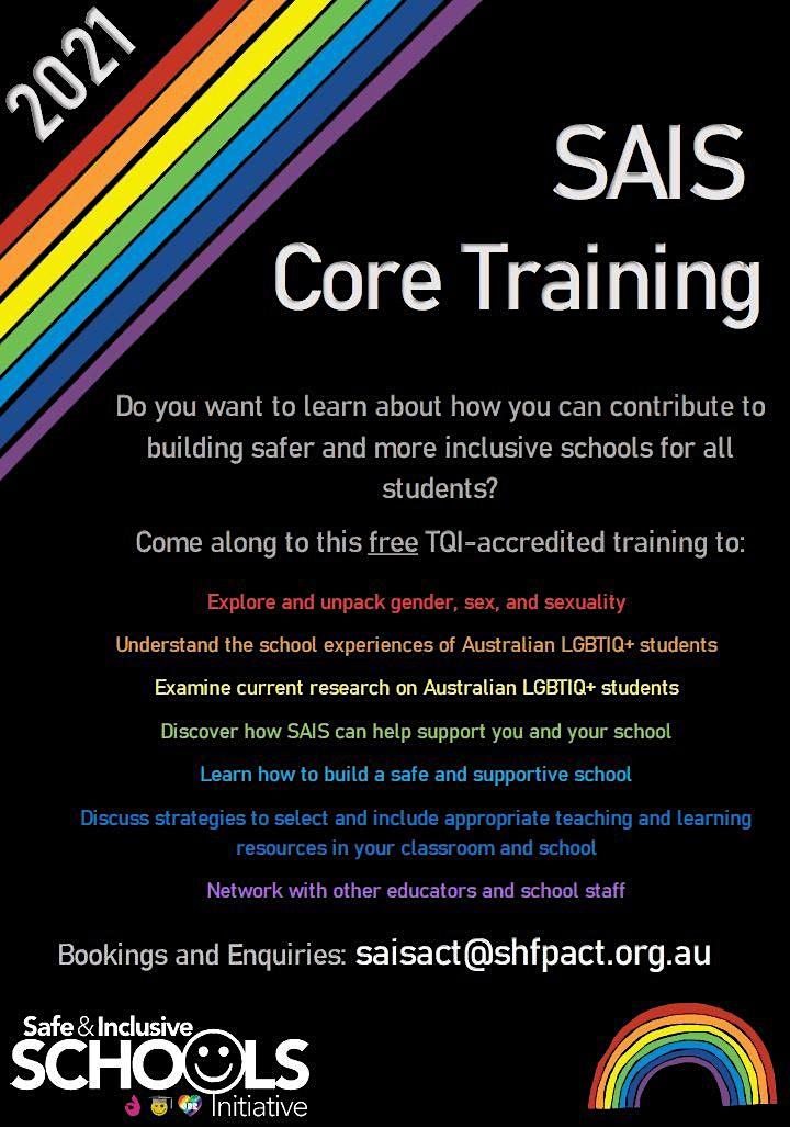 SAIS Core Training: Safe and Inclusive Schools Initiative image