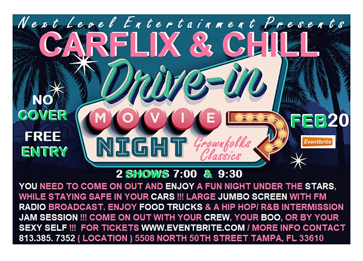 CARFLIX & CHILL - the grownfolks drive-in movie night:  ONLY THE CLASSICS image