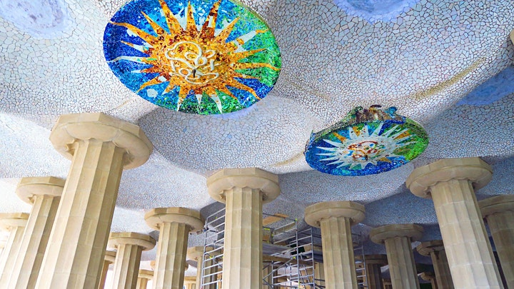 Park Güell. Gaudi's masterpiece best integrated with nature. Live  Tour. image