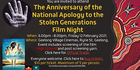Anniversary of the National Apology to the Stolen Generations Film Night tickets