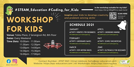 STEAM Coding/Making Workshops | STEAM Education [Ages 6-16]@Tekka Place tickets
