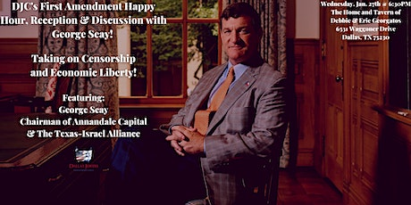 DJC's First Amendment Happy Hour and Discussion with George Seay! tickets