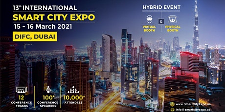 13th International Smart City Expo 2021, Dubai - Independent Sponsorships tickets
