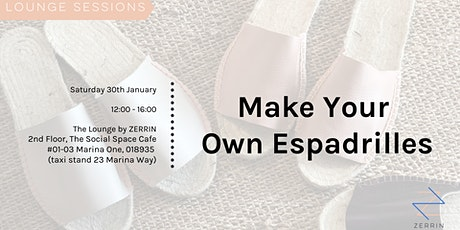 LOUNGE SESSIONS: Make Your Own Espadrilles tickets