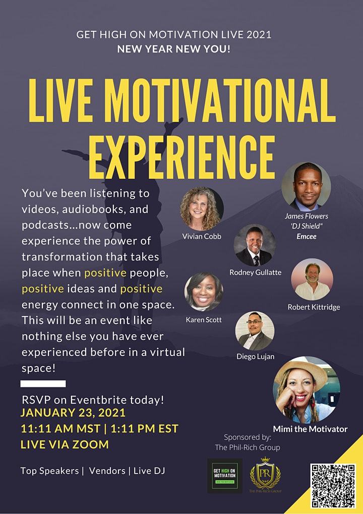 Get High On Motivation LIVE 2021: New Year New You! image