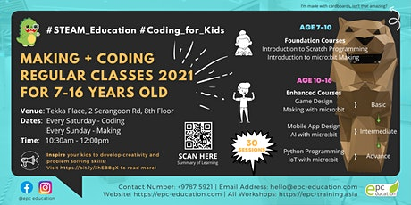 STEAM Coding/Making Regular Class | STEAM Education[Ages 7-16]@Tekka Place tickets