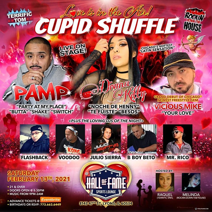 """Pamp Live on Stage """"Cupid Shuffle"""" Valentines Day Weekend image"""