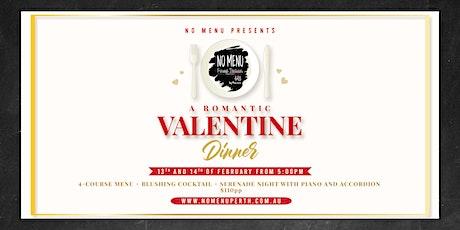 Valentine's Day Dinner at No Menu tickets