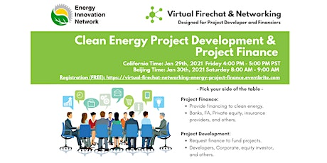 [Virtual Firechat & Networking] Clean Energy Project Finance bilhetes