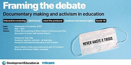 Framing the debate – documentary making and  activism in education tickets