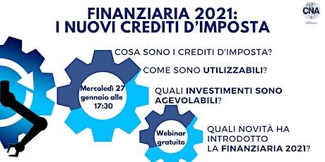 Finanziaria 2021:  I nuovi Crediti d'Imposta biglietti