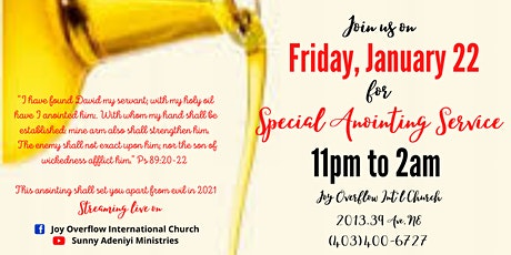 Special Anointing Service Night! tickets