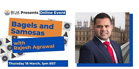 Bagels and Samosas with Rajesh Agrawal tickets