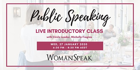 Public Speaking For Women ~ Get Clear, Speak Up, Impact Change tickets