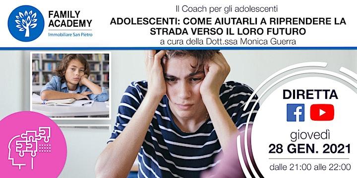 Immagine ADOLESCENTI: COME AIUTARLI A RIPRENDERE LA STRADA DEL LORO FUTURO
