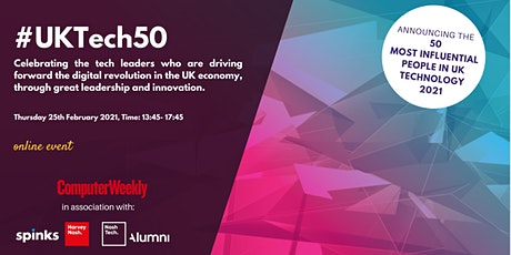 UKtech50 - Computer Weekly and Harvey Nash Group tickets