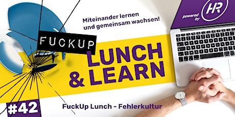 Lunch & Learn Woche 42: Fehlerkultur und der Umgang mit Fehlern Tickets