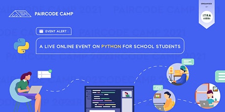 Paircode Camp - A live online event on Python for school students tickets