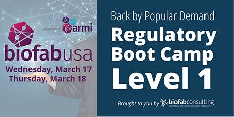 Regulatory Bootcamp - Level 1 tickets