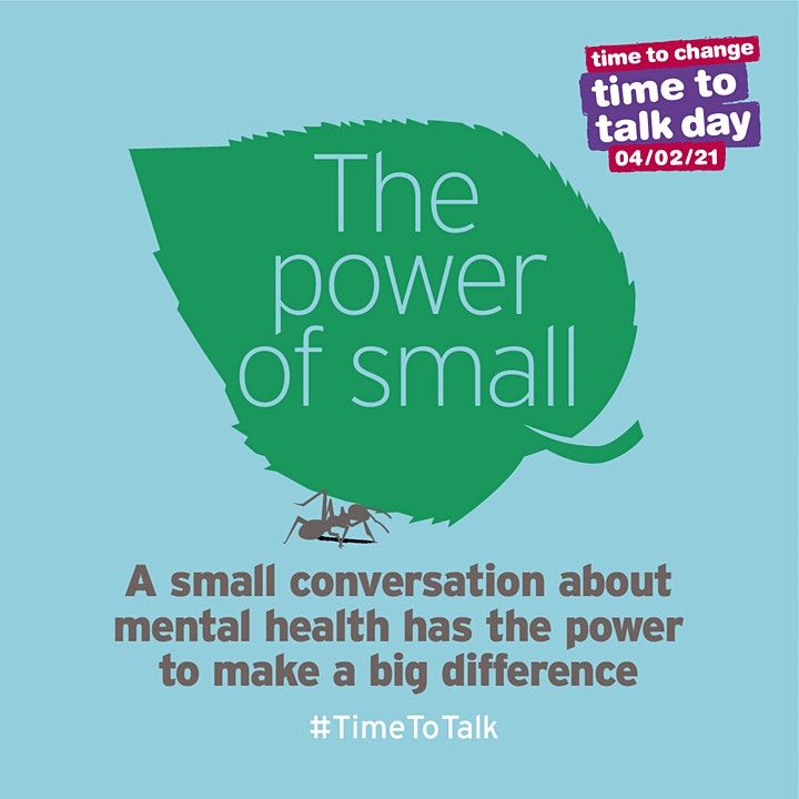 The Power of Small:  start your mental health conversation image