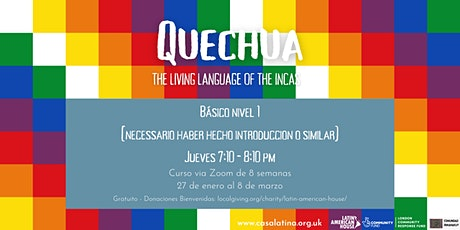 Quechua nivel 1 para hispanohablantes entradas