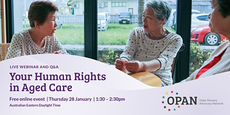 Your Human Rights in Aged Care tickets