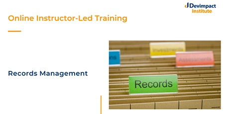 Training on Records Management tickets