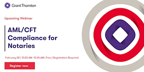 AML/CFT Compliance Webinar - Notaries tickets