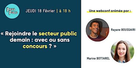 « Rejoindre le secteur public demain : avec ou sans concours ? » billets