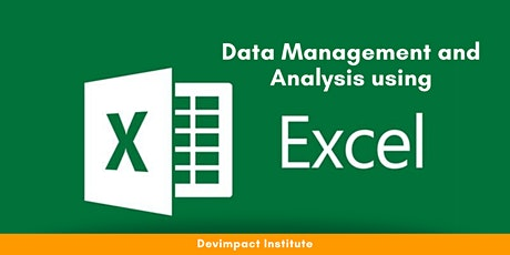 Training on Data Management and Analysis using Excel tickets
