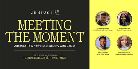 Meeting the Moment: Adapting to a New Music Industry with Genius tickets