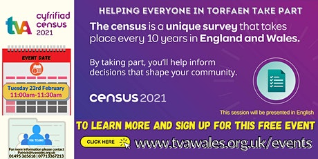 Census 2021 - Helping everyone in Torfaen take part tickets