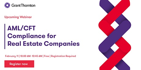 AML/CFT Compliance Webinar - Real Estate Companies tickets