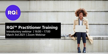 RQi Practitioner Training - Introductory Webinar (March) tickets