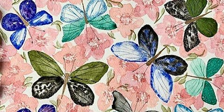 Watercolour Pretty Butterflies workshop- Online Friday March 2021 tickets