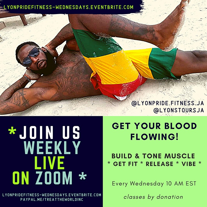 LyonPride Fitness Weekly Zoom Workout! image