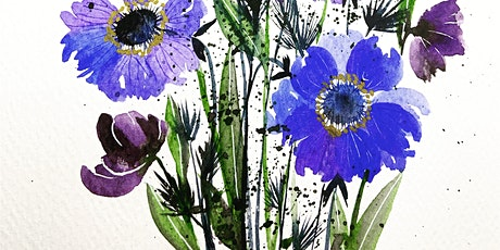 Watercolour Beautiful Floral Bouquet workshop- Online Friday March 2021 tickets