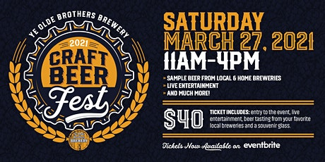 2021 Ye Olde Brothers Craft Beerfest tickets
