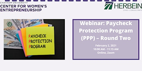 Webinar: Paycheck Protection Program (PPP) – Round Two tickets