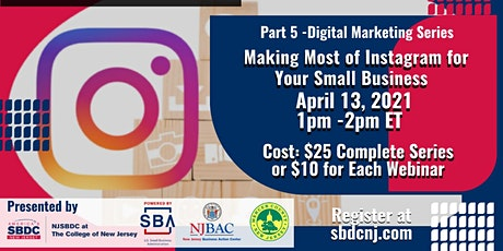 Part 5 - Digital Marketing Series:  Instagram for Your Small Business tickets