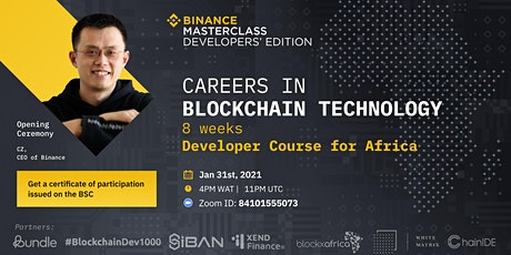 Careers in Blockchain Technology (Developer Course for Africa) tickets