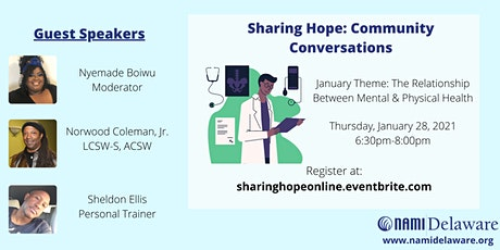 Sharing Hope: Community Conversations - Physical & Mental Health tickets