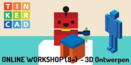 Online Workshop - 3D ontwerpen met Tinkercad (8+) tickets