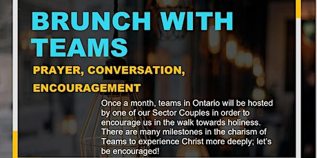 BRUNCH WITH TEAMS - JANUARY tickets