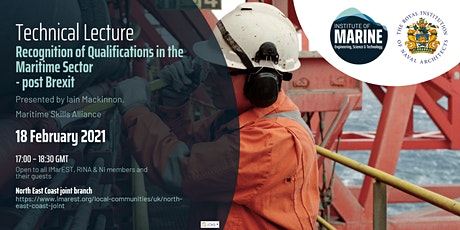 WEBINAR: Recognition of Qualifications in the Maritime Sector - Post Brexit tickets